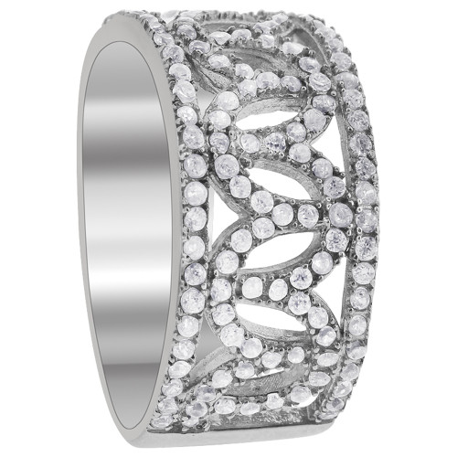 925 Sterling Silver Round Cubic Zirconia Ring