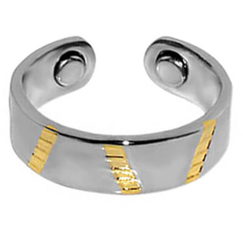 Two Tone Magnetic Band Fits Size 7 and up