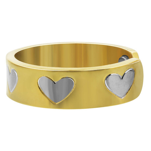 Two Tone Heart Magnetic Band Size 7 and up