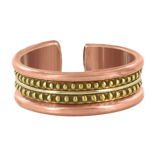 7mm wide Two Tone Finish Adjustable Fashion Ring