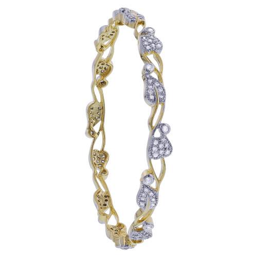 Gold Plated Indian Bollywood Cubic Zirconia Bangle Bracelets
