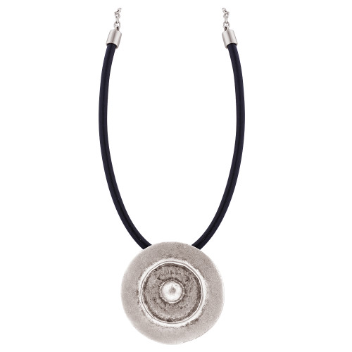 Zinc 8mm Coin 18 to 21 Inch Necklace with Chain #GN017