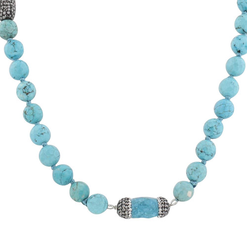 Turquoise Strands Necklace