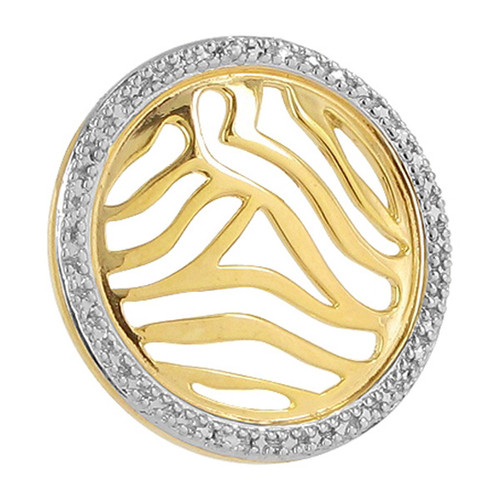 Gold over Sterling Silver Round Vermeil Pendant