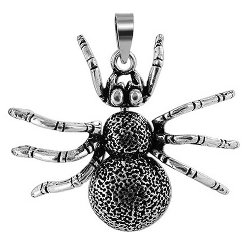 925 Silver 1.2 x 1.4 inch Spider with Moving Limbs Pendant
