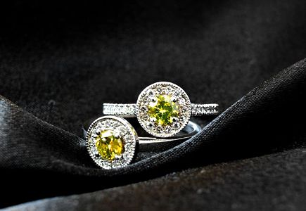unique sterling silver august birthstone green peridot ring