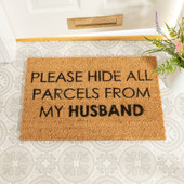 Please Hide all Parcels from Husband Doormat