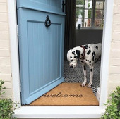 Country size large welcome scribble doormat