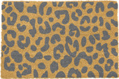 Grey Leopard door mat