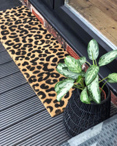 Leopard Print door mat for patio