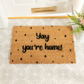 Yay, You're Home Spotty Doormat