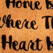 Heart Shaped Home Is Where My Heart Is Doormat