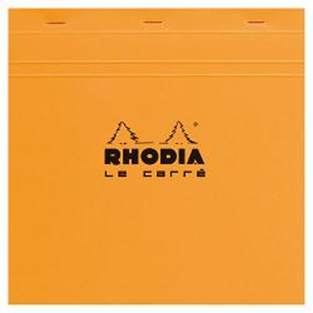 #210200 Rhodia Classic Notepads Le Carré Square Top Staplebound 8 1/4 x 8 1/4 Graph Orange 80 sheets
