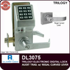 Alarm Lock Trilogy DL3075 Standalone Access Control System with Audit Trail and Regal Curved Lever | Alarm Lock DL3075 | Alarm Lock DL3075IC