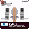 Alarm Lock Trilogy Double Sided Electronic Digital Locks with Regal Curved Lever | Alarm Lock DL5375 | Alarm Lock DL5375IC