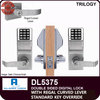 Alarm Lock Trilogy Double Sided Electronic Digital Locks with Regal Curved Lever | Alarm Lock DL5375 Standard Key Override with Regal Curved Lever