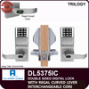 Alarm Lock Trilogy Double Sided Electronic Digital Locks with Regal Curved Lever | Alarm Lock DL5375IC Interchangeable Core with Regal Curved Lever