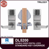 Alarm Lock Trilogy DL5200 Double Sided Electronic Digital Locks | Alarm Lock Trilogy DL5200 Standard Key Override