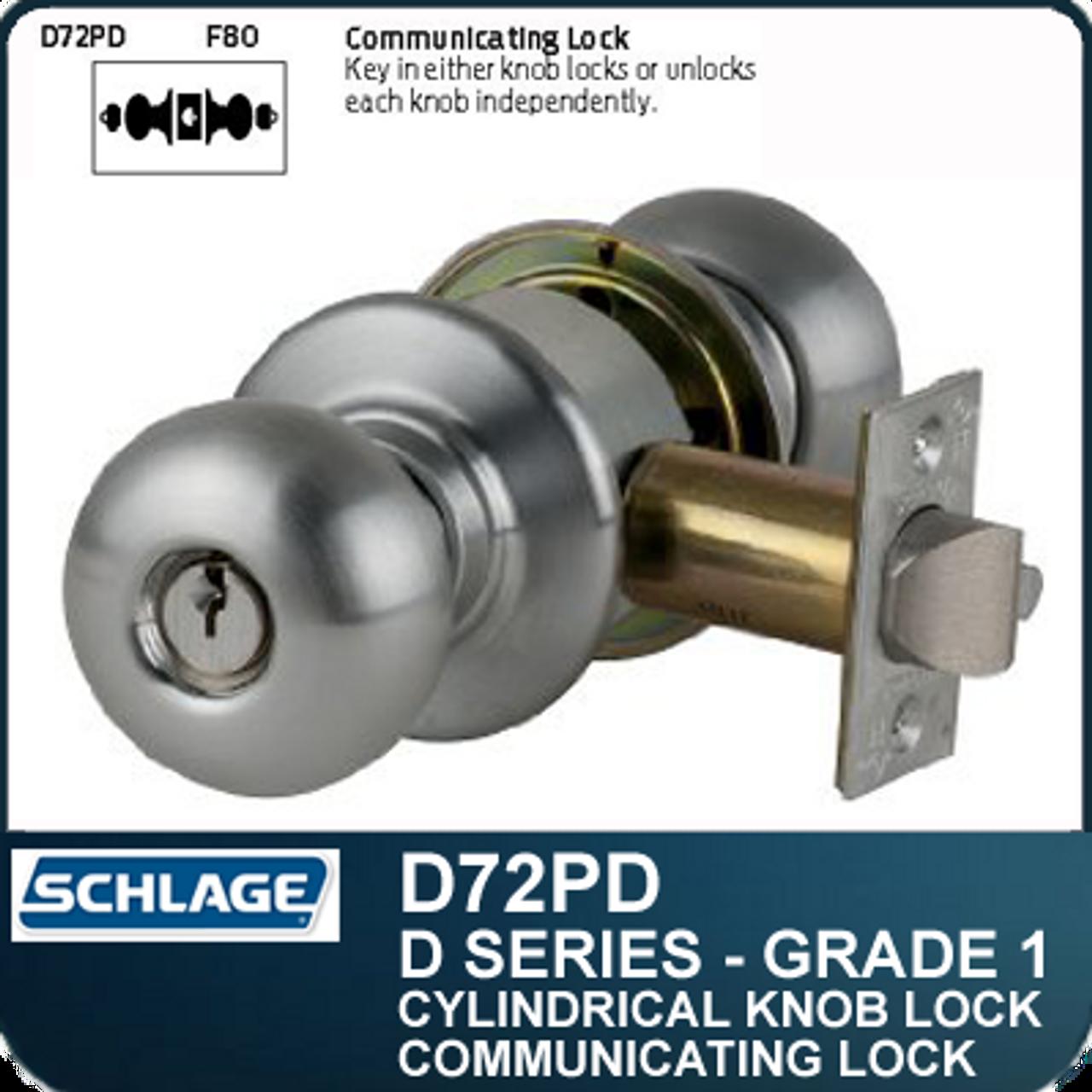 Schlage Silver UL Single Point Lock or Latch Ff