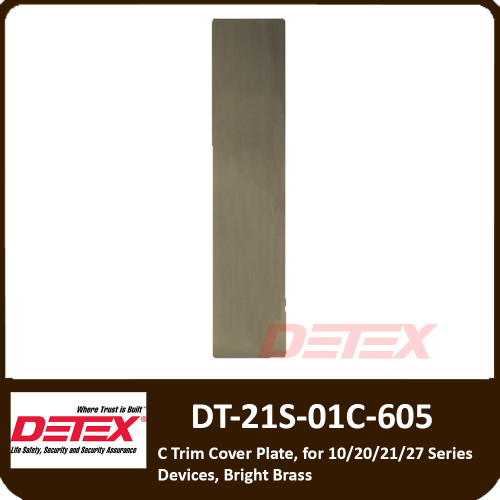 Detex 21 Series  Exit Only, Blank Plate Trim