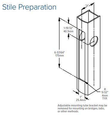 Adams Rite 4300 Electrified Deadlatch Stile Preparation