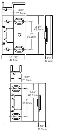 Adams Rite 8800 Aluminium Door Exit Devices Strike Dimensions