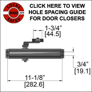 Buy Door Closer   Door Closer Hole Spacing Guide