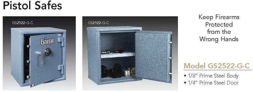 Gardall Pistol Safe 2522