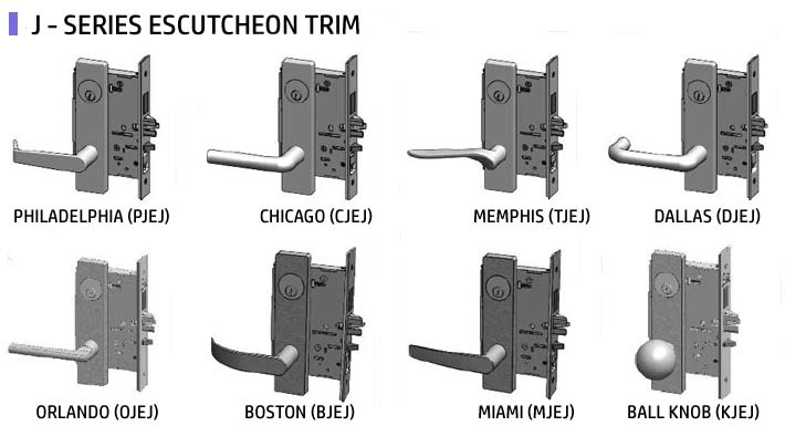 Mortise Locks Levers | PDQ Mortise Locks J Escutcheon Trim