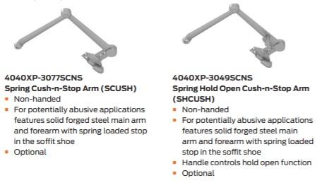 LCN 4040XP Arm Styles
