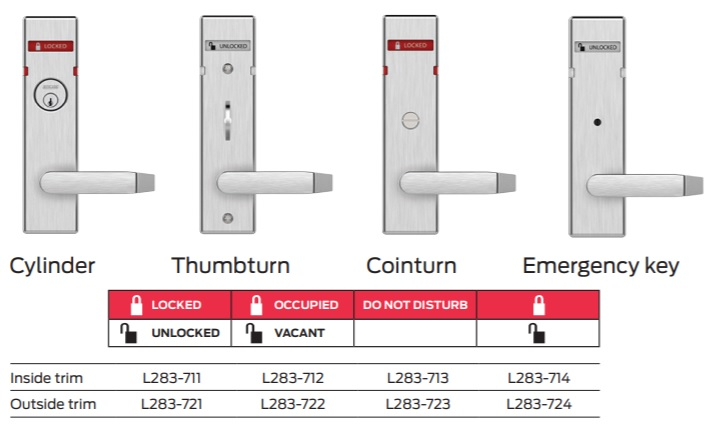 Schlage Mortise Locks Indicator Styles