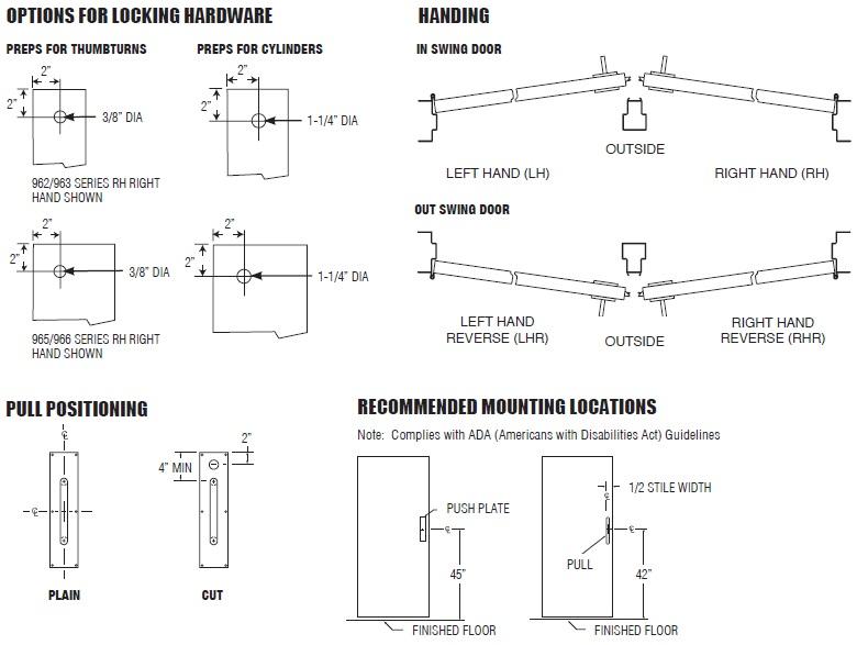 PDQ Push Plates Options | Door Push Plates Options