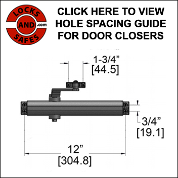 Door Closer Hole Spacing Guide | PDQ 5500 Door Closer