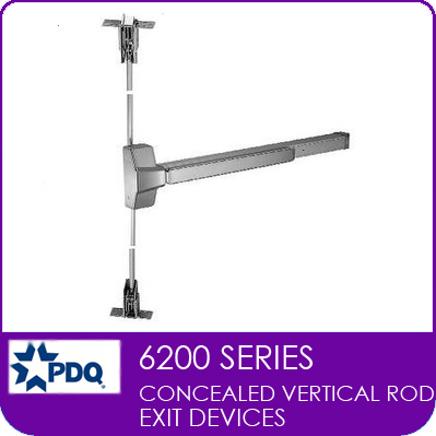 PDQ 6200 | PDQ Concealed Vertical Rod Exit Device