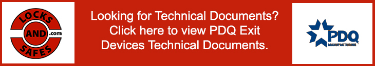 PDQ Exit Devices Technical Documents