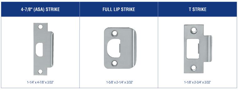 PDQ GT Series Cylindrical Lock Strikes   PDQ Grade 1 Cylindrical Lock Strikes