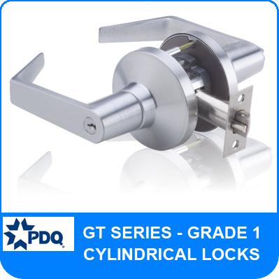 PDQ GT Series | Grade 1 Cylindrical Locks | Heavy Duty Cylindrical Locks