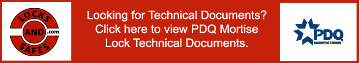 View PDQ Mortise Lock Technical Documents | View PDQ Mortise Lock Cut Sheets