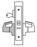 PDQ MR113 Mortise Lock Hold Back Single Cylinder Function