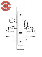 PDQ MR117 Front Door Mortise Locks JS | PDQ MR117 Mortise Locks | Front Door Single Cylinder Lock