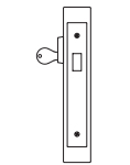 PDQ MR131 Mortise Lock Single Cylinder Deadbolt Function