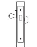 PDQ MR132 Mortise Lock Cylinder and Thunbturn Deadbolt Function