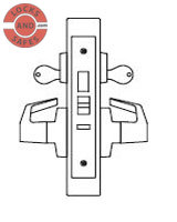 PDQ MR157 Intruder Deadbolt with Deadlatch Mortise locks F Sectional Trim | Best 45HIDA Mortise Locks | PDQ MR157 | Best Door Locks