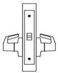 PDQ MR174 Mortise Lock Privacy with Thumbturn