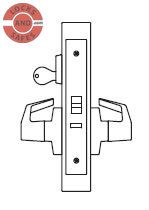 PDQ MR199A Electrified Mortise Locks F Sectional Trim | BEST 45HEU Electrified Mortise Locks | PDQ MR199A