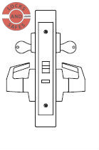 PDQ MR200 Electrified Institutional Mortise Locks F Sectional Trim | PDQ MR200 Electrified Mortise Locks | Motorized Lock/Unlock