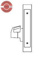 PDQ MR212 Single Dummy with Chassis Mortise locks J Escutcheon Trim | PDQ MR212 Mortise Locks | Door Security | Mortice Lock