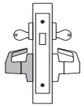 PDQ MR214 Mortise Lock Double Cylinder Deadbolt with Dummy Trim