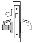 PDQ MR215 Mortise Lock Single Cylinder Deadbolt with Dummy Trim