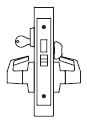 PDQ MR260 Faculty Restroom Mortise Lock with Deadbolt with Indicator | PDQ MR260 Mortise Indicator Locks | Indicator Locks | Deadbolt